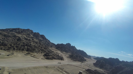 Mount Moses , is a mountain in the Sinai Peninsula, which is most often identified with the biblical Mount Sinai. Фото со стока - 99245974
