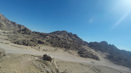 Mount Moses , is a mountain in the Sinai Peninsula, which is most often identified with the biblical Mount Sinai. Фото со стока - 99245975