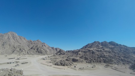 Mount Moses , is a mountain in the Sinai Peninsula, which is most often identified with the biblical Mount Sinai. Фото со стока - 99245976