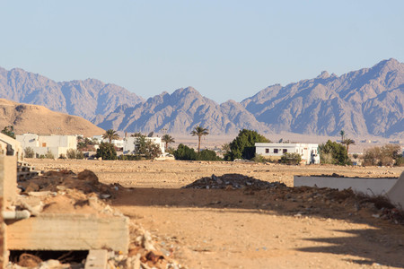 Connection valley in Egypt city, South Sinai. Фото со стока - 99245982