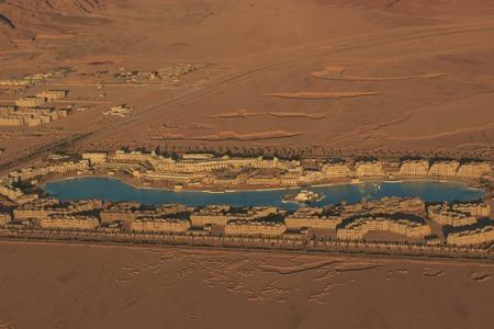 Hucachina oasis and sand dunes . Фото со стока