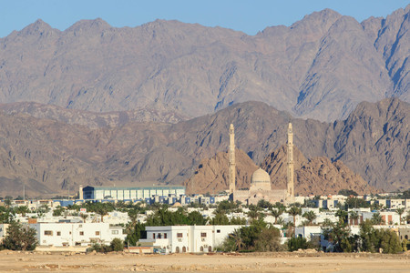 Connection valley in Dahab city, South Sinai.