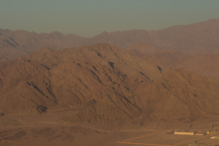 Spectacular aerial view of the holy summit of Mount Sinai Фото со стока