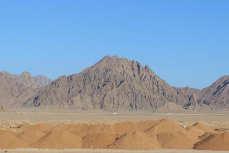 Egypt, Sinai, Mount Moses. Road on which pilgrims climb the mountain of Moses