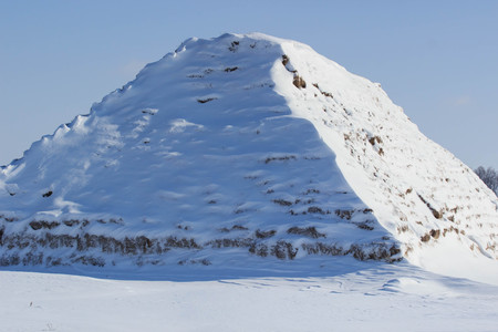 Winter Egypt snow sculpture in piramide