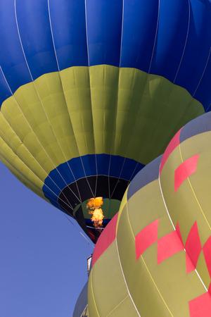 hot air balloon in blue sky Фото со стока
