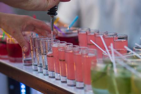cocktails and soft drinks Фото со стока