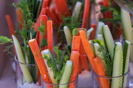 fresh and tasty vegetarian salat buffet. Фото со стока