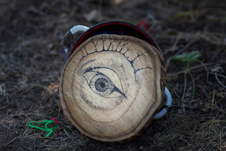 Ghost eye of Friday 13th, Eye of devil or Eye of monster. Concept for Horror Halloweens night