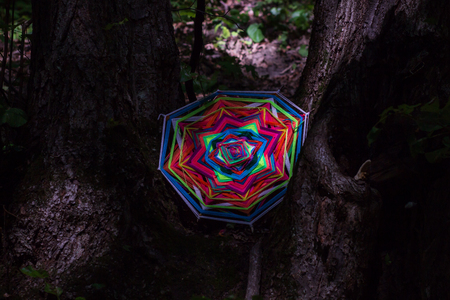 Mandala work made by wool and rope. Фото со стока