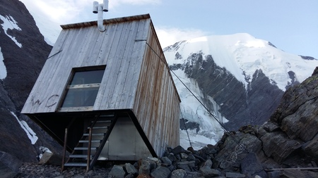 Toilet in the mountains, Mont Blanc