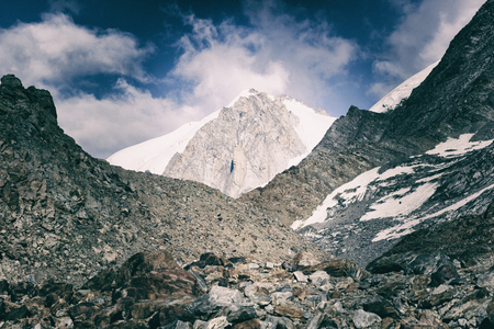 Chamonix Mont Blanc. grand couloir. Фото со стока