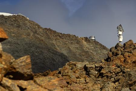 Dead climber monument on Mont Blanc Gouter route, French Alps, France. couloir de la mort