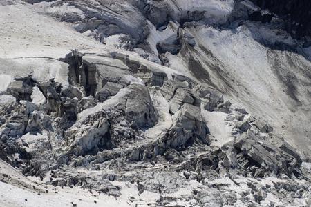 Glacier in summer mountains