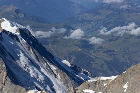 Aerial view of Winter landscape Mountain Alpine