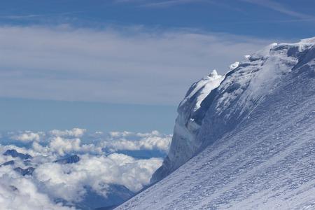 Alps Alpine Landscape of Mountain . Clouds Фото со стока
