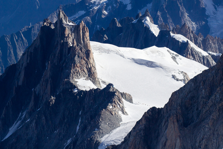 Aerial view of Winter landscape Mountain Alpine