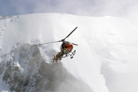 Volunteer Mountain Rescue Service in action.
