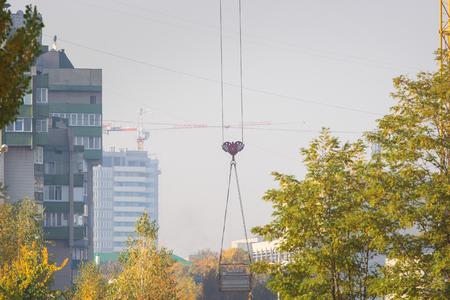 Huge engineering tower crane.