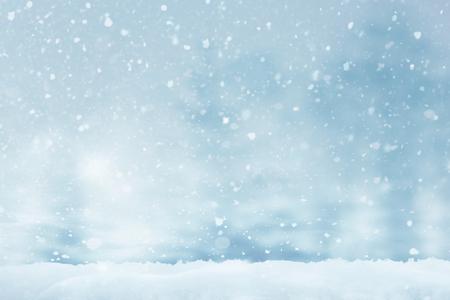 Résumé Noël hiver fond enneigé