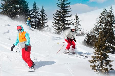 People Snowboard Winter Sport Friendship Concept. Foto de archivo