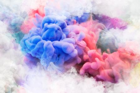 Blue, pink, purple vape smoke