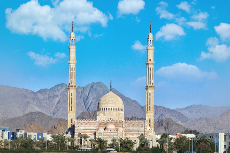 Beautiful architecture of Mosque in Sharm el Sheikh , Egypt Imagens - 120768747