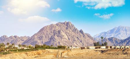 The beauty of the mountains of the Sinai Peninsula in Egypt Фото со стока
