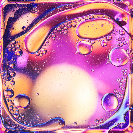 Abstract colorful oil on water background