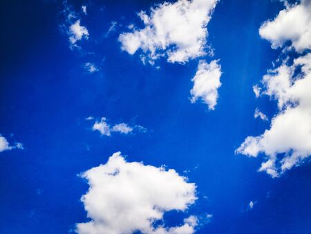 Blue sky with clouds and sunny day