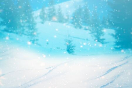 Abstract Winter background abstract bokeh 写真素材