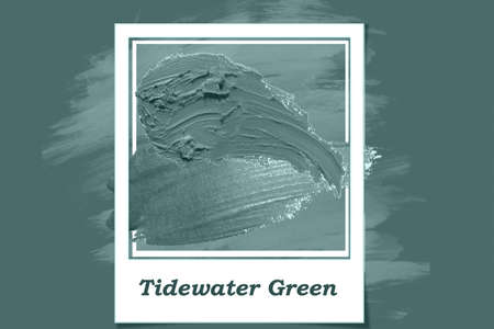 Abstract texture background Tidewater Green color.