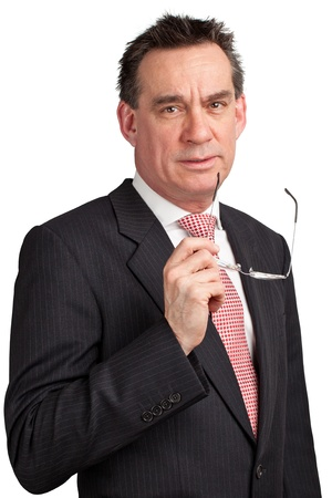 stern: Smiling Middle Age Businessman in Suit