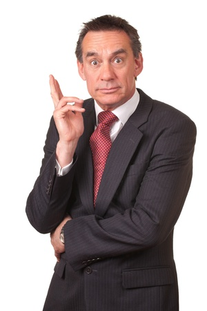 Attract Surprised Shocked Middle Age Business Man in Suit