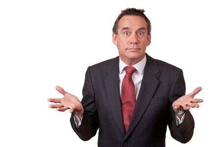 Attractive Business Man with Surprised Expression