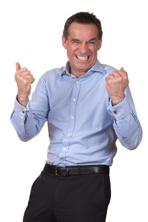 Attractive Man with Happy Excited Expression Stock Photo