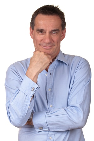 Portrait of Attractive Smiling Middle Age Man
