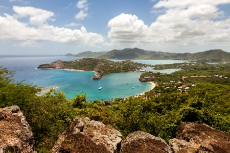 Tropical Caribbean Landscape of English Harbour and Nelson