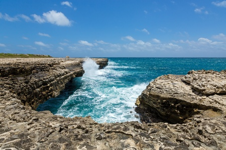 Rocky Limestone Coastline at Devil Stock Photo - 21447927