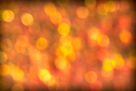 Beautiful Red and Golden Glowing Bokeh Background Stock Photo