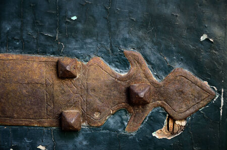 hinge joint: Particular gate of the old Stock Photo