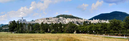 assisi: panoramic view of Assisi