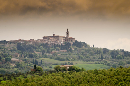 val: landscape of the Val d  'Orcia Stock Photo