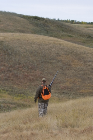 Hunter out on the prairie