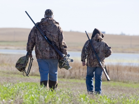 upland: Father and son Hunting