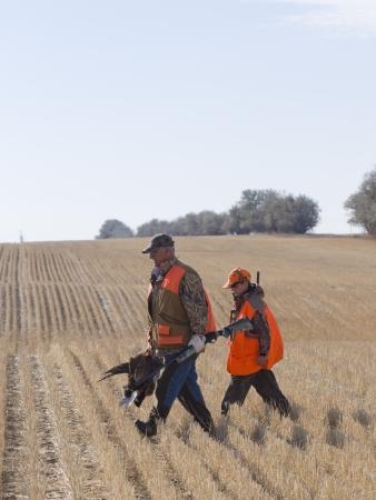 cazador: Padre e hijo Caza Foto de archivo