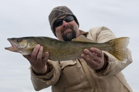 Walleye Fishing Stock Photo