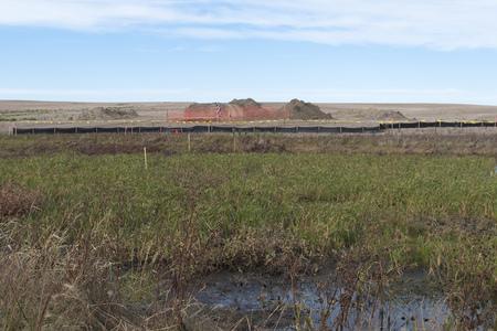 Gas Pipeline under a wetland photo
