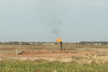 Gas Flame from an oil well photo