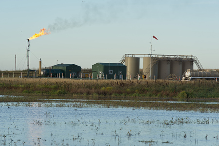 Oil Well by a WEtland